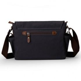 MUZEE Tas Selempang Kanvas Messenger Bag - ME-8899D - Black - 2