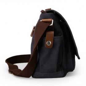 MUZEE Tas Selempang Kanvas Messenger Bag - ME-8899D - Black - 3