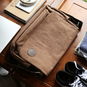 MUZEE Tas Selempang Kanvas Messenger Bag - ME-8899D - Black - 6