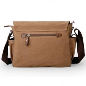 MUZEE Tas Selempang Kanvas Messenger Bag - ME-8899D - Coffee - 2