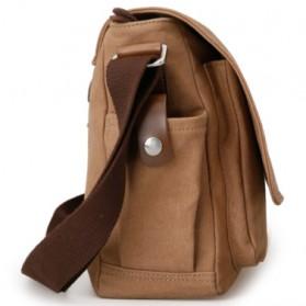 MUZEE Tas Selempang Kanvas Messenger Bag - ME-8899D - Coffee - 3