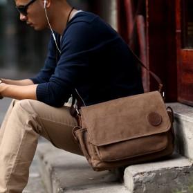 MUZEE Tas Selempang Kanvas Messenger Bag - ME-8899D - Coffee - 4