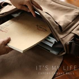 MUZEE Tas Selempang Kanvas Messenger Bag - ME-8899D - Coffee - 5