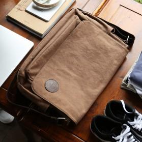MUZEE Tas Selempang Kanvas Messenger Bag - ME-8899D - Coffee - 6