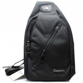 Tas Selempang Sling Bag Canvas - Black/Gray