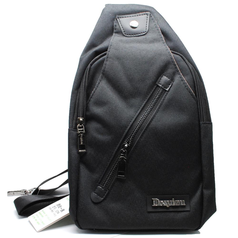 Tas Selempang Sling Bag Canvas - Black Gray - JakartaNotebook.com 77460d9a88