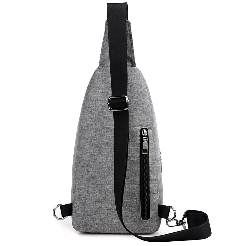 ... Tas Selempang Sling Bag Canvas - Black/Gray - 2 ...