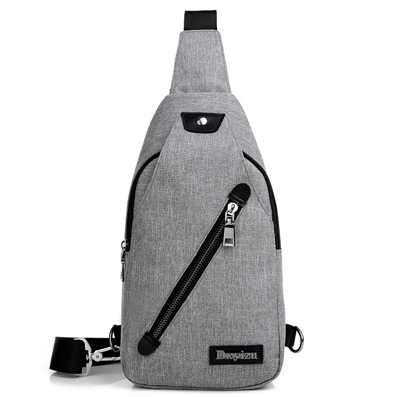 ... Tas Selempang Sling Bag Canvas - Black/Gray - 5 ...
