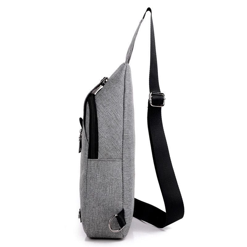 Tas Selempang Sling Bag Canvas - Black/Gray - 6 ...