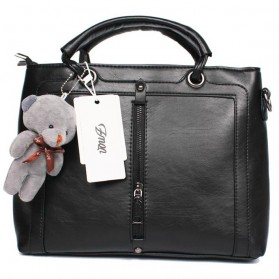 Tas Selempang Kasual Luxury Women Bag Handbag - Black