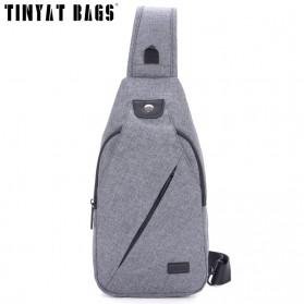 TINYAT Tas Selempang Crossbody Sling Bag - T609 - Dark Gray