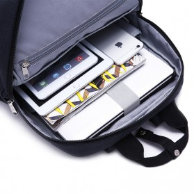 TINYAT Tas Ransel Sekolah - T809 - Black - 5
