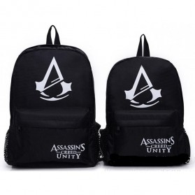 Tas Ransel Backpack Glow in The Dark - Model Assassin's Creed - Black
