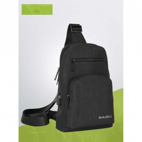 Tablet Casing / Softcase / Hardcase - BAIBU Tas Selempang Sling Bag Kasual - J51-L9-Z50 - Black