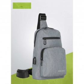 Tablet Casing / Softcase / Hardcase - BAIBU Tas Selempang Sling Bag Kasual - J51-L9-Z50 - Gray