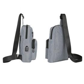 BAIBU Tas Selempang Sling Bag Kasual - J51-L9-Z50 - Gray - 2