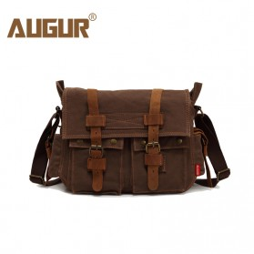 Augur Tas Selempang Canvas Military Messenger Bag - BW004 - Coffee