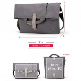MUZEE Tas Selempang Messenger Bag - ME-1125 - Black - 8