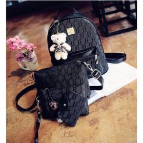 Tas Ransel Fashion Wanita Bag in Bag 4 in 1 - Black