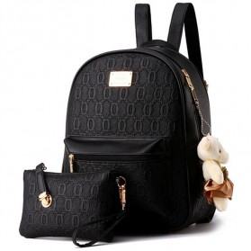 Tas Ransel Fashion Wanita Bag in Bag 2 in 1 - Black
