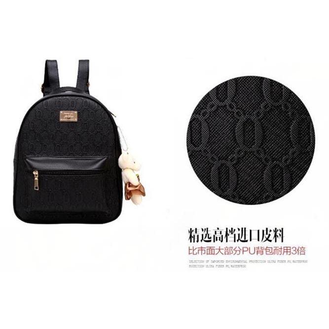 Tas Ransel Fashion Wanita Bag in Bag 2 in 1 - Black - 052cc380ca