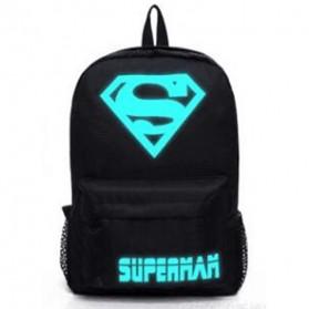 Tas Ransel Oxford Glow in The Dark - Model Superman - Black