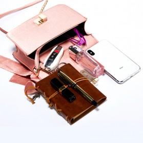 Tas Selempang Wanita dengan Pita Bowknot Messenger Bag - Pink - 2