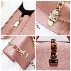 Tas Selempang Wanita dengan Pita Bowknot Messenger Bag - Pink - 3