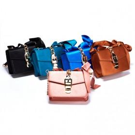 Tas Selempang Wanita dengan Pita Bowknot Messenger Bag - Pink - 5