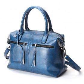 Tas Selempang Kulit Wanita Quality Leather - Gray - 2