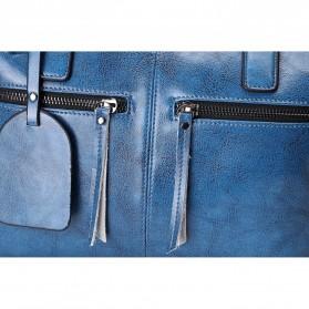 Tas Selempang Kulit Wanita Quality Leather - Gray - 7