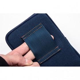 T&D Tas Pinggang Canvas Pocket Bag - Black - 2