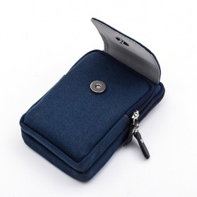 T&D Tas Pinggang Canvas Pocket Bag - Black - 4