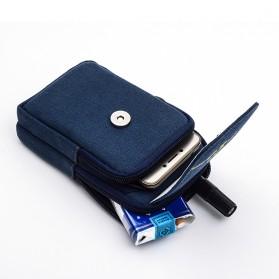 T&D Tas Pinggang Canvas Pocket Bag - Black - 5