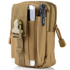 Tas Ransel Laptop / Backpack Notebook - Airsson Tas Pinggang Mini Tactical Waistbag Army Look - JSH1525 - Khaki