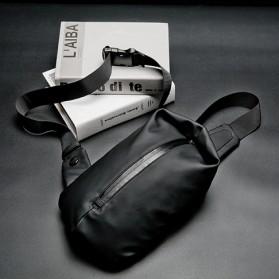 Morrysalee Tas Selempang Pria Crossbody Bag Modern Design Bahan Kulit - 7733 - Black