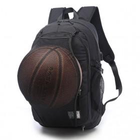 TUOGUAN Tas Ransel Bola Basket Ball dengan USB Charger 35L - RN41381 - Black - 1