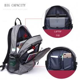 TUOGUAN Tas Ransel Bola Basket Ball dengan USB Charger 35L - RN41381 - Black - 3