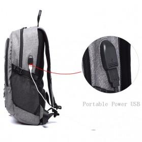 TUOGUAN Tas Ransel Bola Basket Ball dengan USB Charger 35L - RN41381 - Black - 4