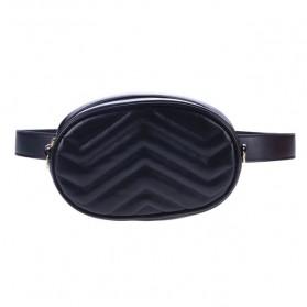 Tas Selempang Pinggang Purse Wanita PU Leather Bag - SWDF18050201 - Black - 2