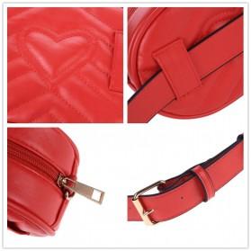 Tas Selempang Pinggang Purse Wanita PU Leather Bag - SWDF18050201 - Black - 3