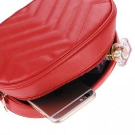 Tas Selempang Pinggang Purse Wanita PU Leather Bag - SWDF18050201 - Black - 4