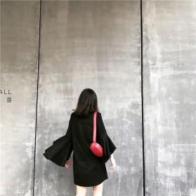 Tas Selempang Pinggang Purse Wanita PU Leather Bag - SWDF18050201 - Black - 5