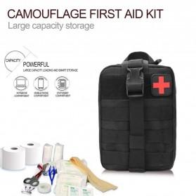 Tas Obat P3K Tactical Portable Waist Bag - A0311 - Black - 2