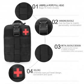 Tas Obat P3K Tactical Portable Waist Bag - A0311 - Black - 3