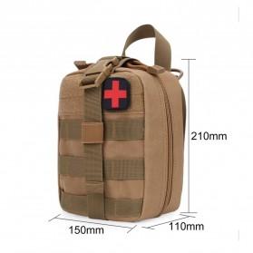 Tas Obat P3K Tactical Portable Waist Bag - A0311 - Black - 4