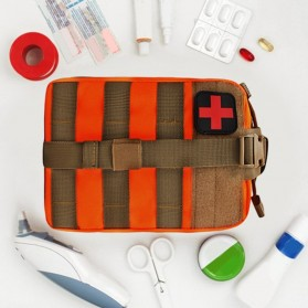 Tas Obat P3K Tactical Portable Waist Bag - A0311 - Black - 6
