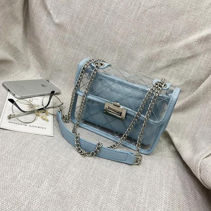 ... Tas Selempang Jelly Bag Transparant Wanita - 6311 - Blue - 1 ... 0a9dd3c9ee