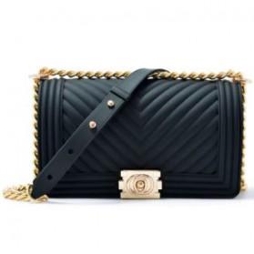 Tas Selempang Kasual Wanita V-Line Pattern Sling Bag - GD004 - Black