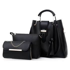 Crosshill Tas Fashion Wanita Bag in Bag 3 in 1 - 198 - Black - 1